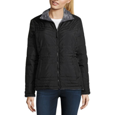 Free Country Reversible Water Resistant Fleece Lined Midweight Puffer Jacket