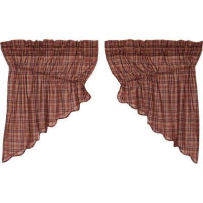 Rustic & Lodge Window Parker Scalloped Prairie Swag Pair