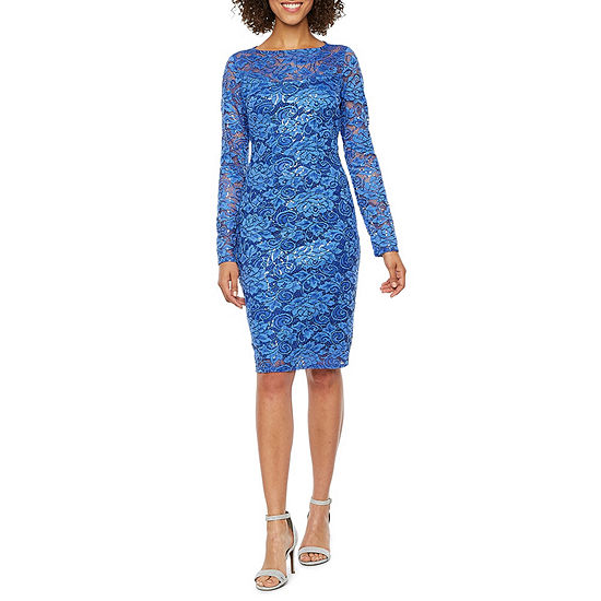 2077bd8e02 Blu Sage Long Sleeve Sheath Dress - JCPenney