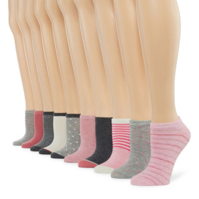 10 Pair No Show Socks - Womens