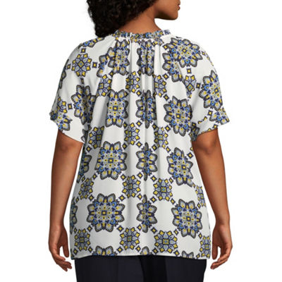 Liz Claiborne Ruffle Top- Plus