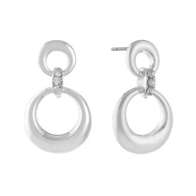 Liz Claiborne Clear Drop Earrings