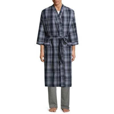 Stafford Men's Broadcloth Kimono Robe