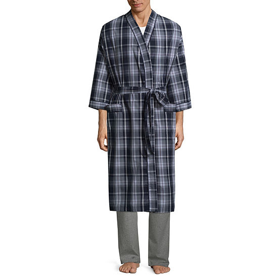 Stafford Men's Broadcloth Kimono Robe
