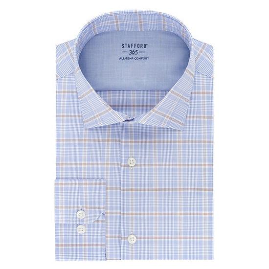 Stafford Men's Big & Tall 365 All-Temp Flex Collar Wrinkle Free Dress Shirt
