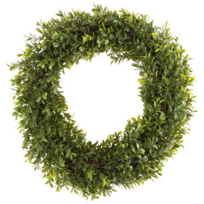 Pure Garden 15 In. Artificial Hedyotis Round Wreath