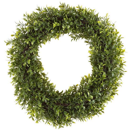 Pure Garden 15 In. Artificial Hedyotis Round Wreath
