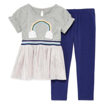 Okie Dokie 2-pc. Legging Set-Toddler Girls