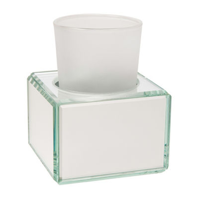 Crystal Mirror Glass Tumbler With Holder