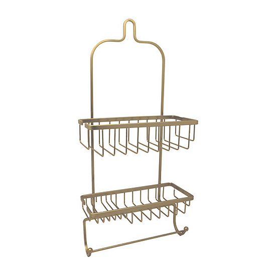 Jumbo Shower Caddy In Satin Gold