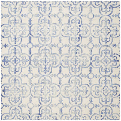 Safavieh Dip Dye Collection Danny Floral Square Area Rug