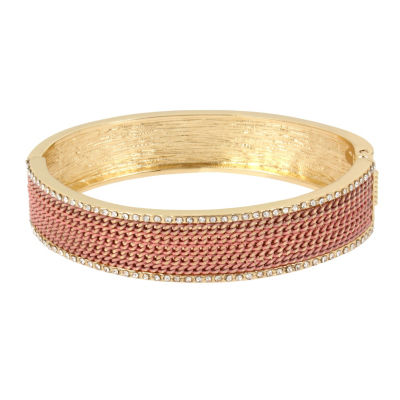 Nicole By Nicole Miller Gold Tone Bangle Bracelet