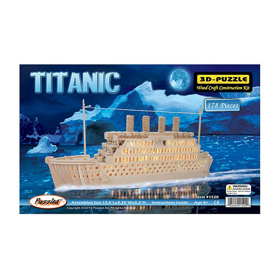 Puzzled Titanic Natural Wood Puzzle