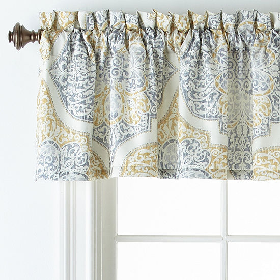 Home Expressions Bingham Rod-Pocket Tailored Valance