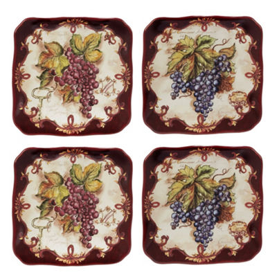 Certified International Vintners Journal 4-pc. Appetizer Plate