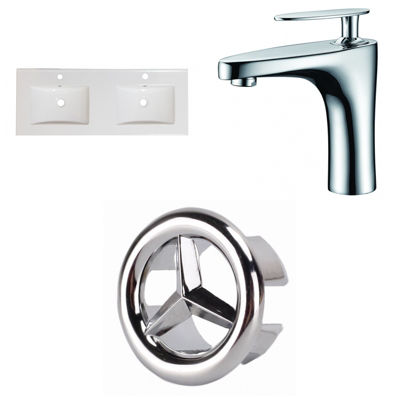 48-in. W 1 Hole Ceramic Top Set In White Color - CUPC Faucet Incl.