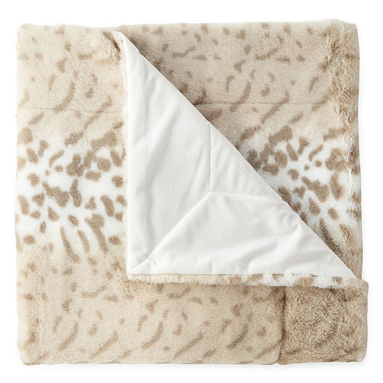 North Pole Trading Co Serengeti Faux Fur Throw