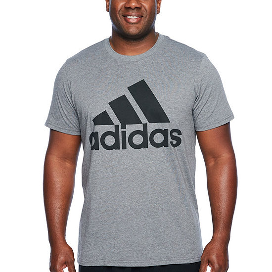 adidas-Big and Tall Mens Crew Neck Short Sleeve T-Shirt