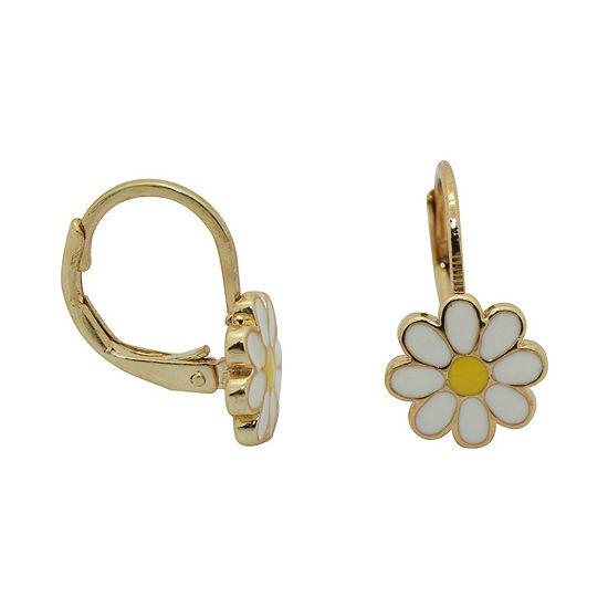 10k Gold Over Brass 5mm Flower Stud Earrings