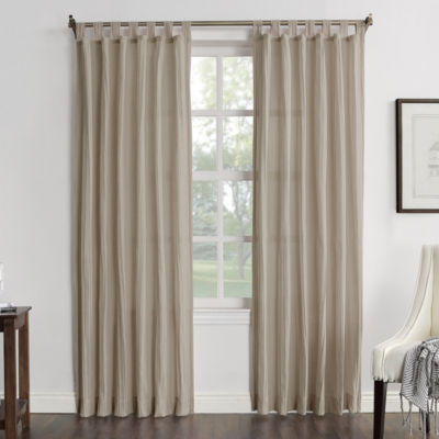 JCPenney Home Vivian Sheer Tab-Top Single Curtain Panel