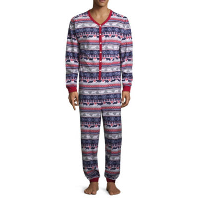 Sleepy Nites Fairisle 1 Piece Pajama -Men's