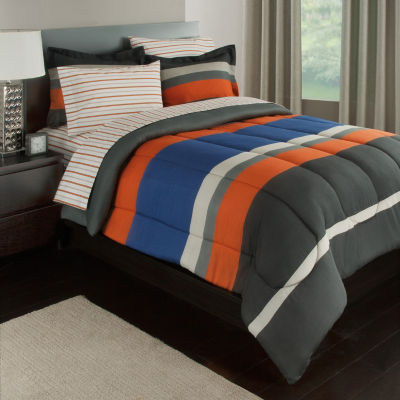 Rugby Stripe Complete Bedding Set with Sheets