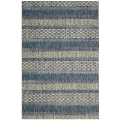 Safavieh Courtyard Collection Jessy Stripe Indoor/Outdoor Area Rug