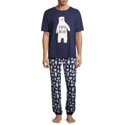 Sleepy Nites Polar Bear 2 Piece Pajama Set -Men's