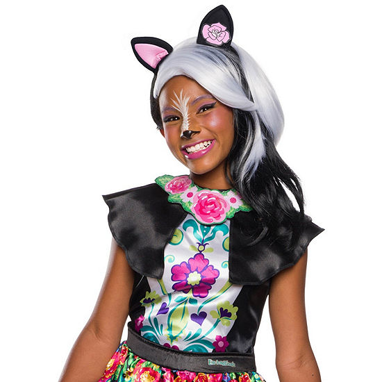 Enchantimals Sage Skunk Girls Wig With Ears One-Size