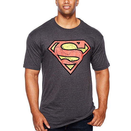 Big and Tall Mens Crew Neck Short Sleeve Superman T-Shirt