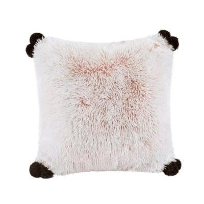 Intelligent Design Emma 20X20 Shaggy Faux Fur Pillow