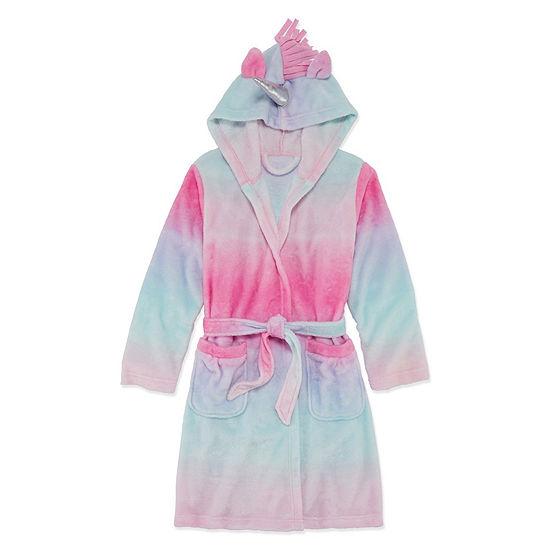 Arizona Girls Microfleece Long Sleeve Mid Length Robe