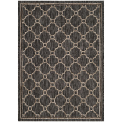 Safavieh Courtyard Collection Ian Geometric Indoor/Outdoor Area Rug