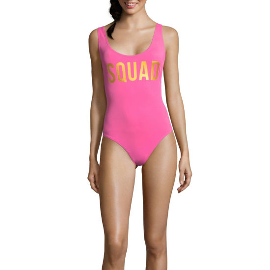 City Streets Pattern One Piece Swimsuit Juniors