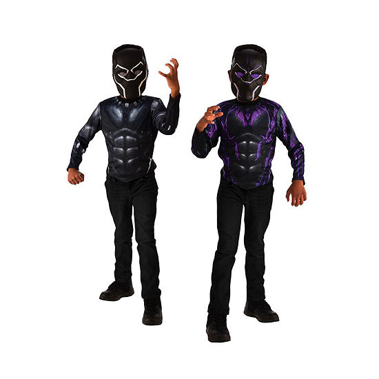 Black Panther 2-In-1 Reversible Costume Top Set One-Size