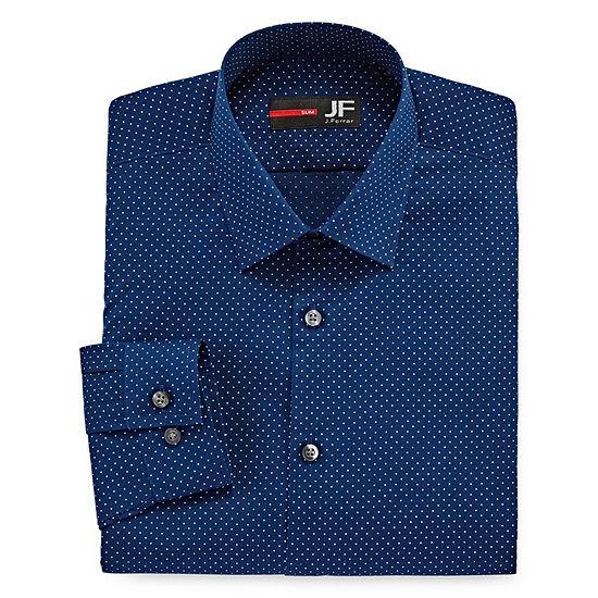 JF J.Ferrar Easy Care Stretch Long Sleeve Dress Shirt