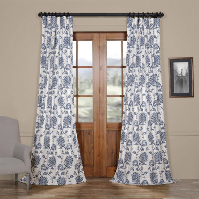 Exclusive Fabrics & Furnishing Duchess Cotton Twill Rod-Pocket/Back-Tab Curtain Panel