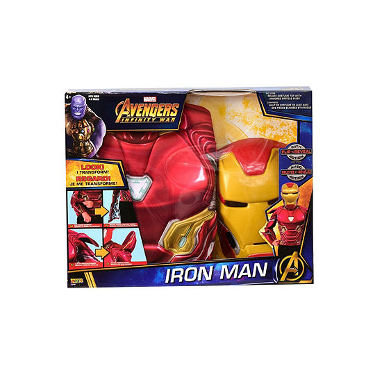 Deluxe Iron Man Flip N' Reveal Dress Up SetOne-Size
