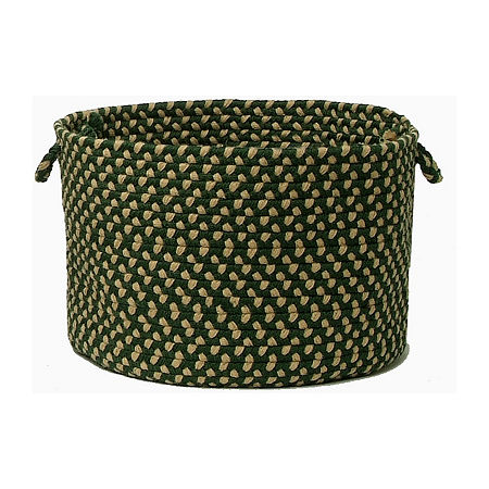 Colonial Mills Brook Farm Braided Indoor or Outdoor Storage Basket, One Size , Green