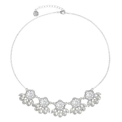 Monet Jewelry Womens Clear Collar Necklace