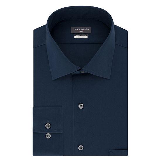 Van Heusen Cool Collar Stretch Mens Long Sleeve Dress Shirt