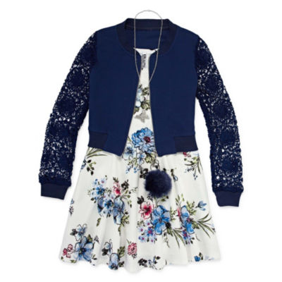 Knit Works 2-pc. Jacket Dress Big Kid Girls
