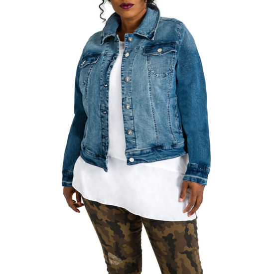 Poetic Justice Vintage Denim Jacket - Plus