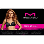 Maidenform Solid & Lace 2-Pack Underwire Push Up Bra-05757j
