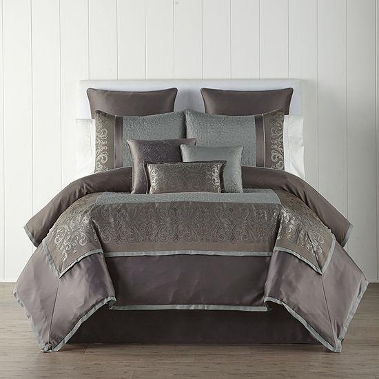 JCPenney Home Nicholai 7-pc. Jacquard Comforter Set
