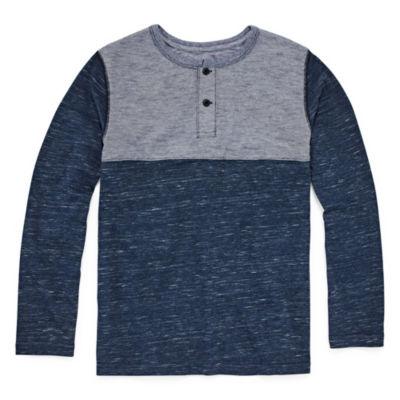 Arizona Long Sleeve Henley Shirt Boys 4-20
