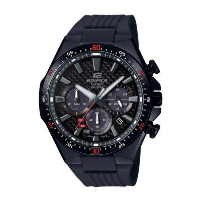 Casio Mens Black Strap Watch-Eqs800cpb-1av