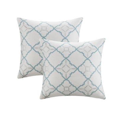 Madison Park Jax 20X20 Cotton Duck Printed Decorative Pillow Pair