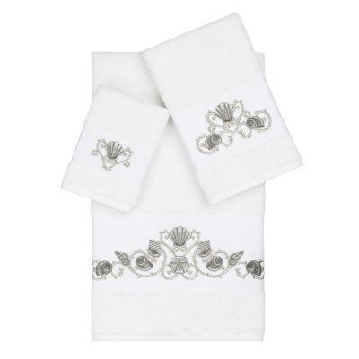 Linum Home Textiles 100% Turkish Cotton Bella 3PC Embellished Towel Set