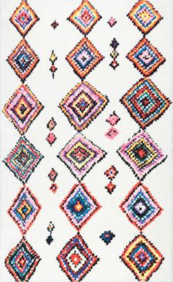 nuLoom Moroccan Aztec Mittie Shaggy Round Area Rug